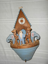 Hand crafted wood Noah's Ark wall plaque