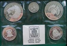 Nicaragua 1975 Independence Mint Set of 5 Silver Coins,Proof