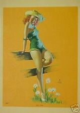 "Beautiful Earl Moran Pin-up ""She's a Daisy"" WOW!!!"