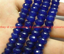 """4x6mm AAA Faceted Blue Sapphire Gemstone Loose Beads 15"""""""