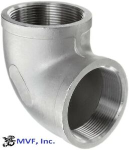 """1-1/2"""" 150 Female NPT 90° Elbow 304 Stainless Steel Pipe Fitting <SS010841304"""