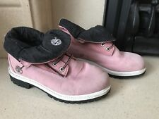 Timberland  Pink Roll Top Boots Size 6
