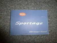 2000 Kia Sportage Owner Owner's Manual User Guide Book EX 4WD Convertible 2.0L