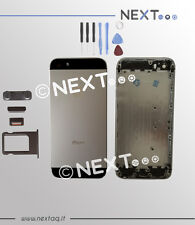 BACK COVER SCOCCA POSTERIORE IPHONE 5S GRIGIO S COPRIBATTERIA + kit riparazione