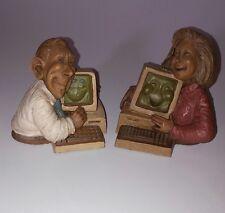 CAIRN COMPUTER FRIENDLY MEN FEMALE Figurine #52 #35 Sievers 1991,1993 RARE
