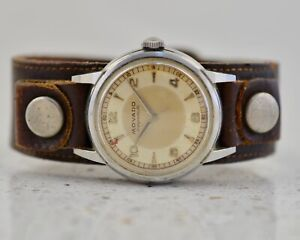 MOVADO Tempomatic Acvatic Bumper steel vintage 1960 Borgel steel case watch