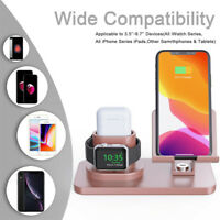 Multi-function Charging Dock 3-in-1 Station Holder Stands For iWatch For iPhone