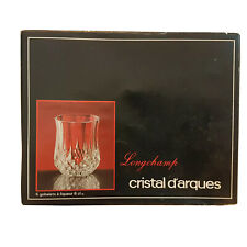 Cristal d'Arques Longchamps, France,Set of 6 Crystal Liqueur /Shot Glasses,6 cl