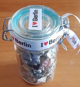 Berlin Wall Genuine Original Colorful Pieces in Sealed Bottle with COA