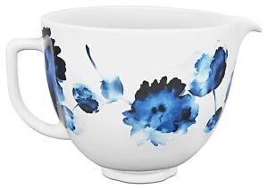 KitchenAid 5-Quart Patterned Ceramic Bowl for Tilt-Head Mixers | Ink Watercolor