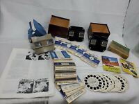 Collection 1940 Sawyers View Master Black Bakelite Stereoscope Reels Gaf Lighted