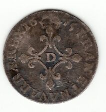 French Colonial 1675 D silver 4 sols des traitants, Breen class 4 Q