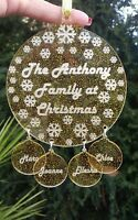 Personalised Family Christmas Tree Bauble, Available in GLITTERED ACRYLIC! WOW;)