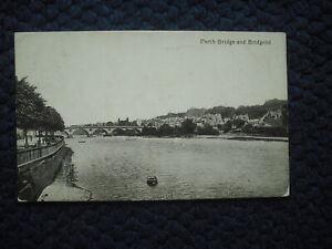 POSTCARD PERTH BRIDGE & BRIDGEND, PERTH, SCOTLAND 1919