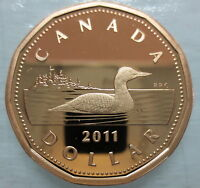 2011 CANADA LOONIE PROOF ONE DOLLAR HEAVY CAMEO COIN