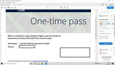 United Airlines Club One-Time Pass E-Delivery (Expires June 10, 2021)