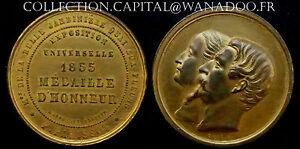 Napoléon III 1855 Eugenie Expo Universelle Médaille d'Honneur
