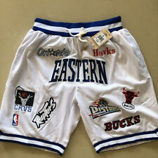 Eastern Conference Shorts White Embroidered