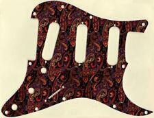 Stratocaster Pickguard Custom Fender SSS 11 Hole Guitar Pick Guard Paisley Tie 5