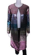Libertine abrigo para mujer lentejuelas manga larga a rayas Oro Rosa Azul Tamaño Mediano