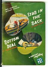 STAB IN THE DARK by Wylie & BOTTOM DEAL, rare US Century crime digest vintage pb