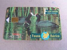 Spain used chipcard    2 Water hens, birds