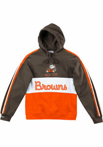 Cleveland Browns NFL Men's Mitchell And Ness Brown Leading Scorer Hoodie Large
