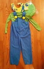 Luigi Costume Super Mario Brothers Bros Child Toddler Boys Halloween