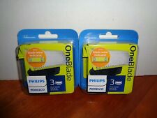 Lot of 6 Philips Norelco OneBlade Replacement Blade 2-3-Packs Brand New Sealed