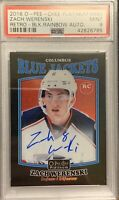 2016 17 Zach Werenski OPC PLATINUM BLACK RAINBOW FOIL ROOKIE CARD RC AUTO PSA 9