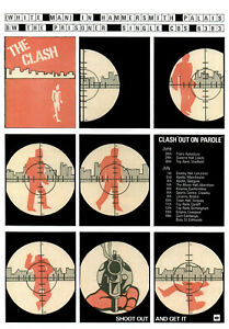 CLASH  POSTER. WHITE MAN IN HAMMERSMITH PALAIS. Punk. A3 repro.