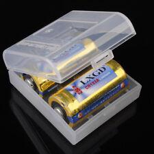 16340/RCR123 5x White Battery Case Box Holder Storage For 2Pcs RCR123/16340