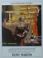 PUBLICITE REMY MARTIN COGNAC CHATEAU DE BLUCHE DANY ROBIN DE 1967 FRENCH AD PUB