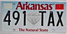 Arkansas  License Plate, Original Kennzeichen  USA  491 TAX  ORIGINALBILD