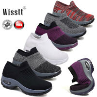 Women Air Cushion Running Sneakers Breathable Mesh Walking Running Casual Shoes
