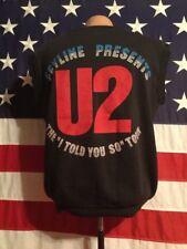 1983 U2- RED ROCKS -  SLEEVELESS CONCERT SHIRT- SZ-LG-42-44-MADE IN USA-50/50