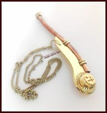 Navy Ship Bosun's Pipe New Copper/Brass Boatswain Whistle gift