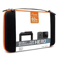 60 Accessories + Case Kit for Gopro HERO5 Black Frame Shockproof Carrying Case