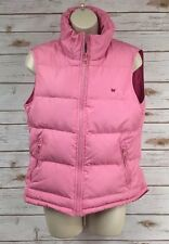AEROPOSTALE Pretty Pink Zipper Down Puffer Hi-Lo Vest Jacket w/Media Pockets M/L