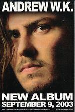 Andrew W.K. The Wolf RARE promo sticker '03