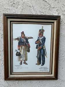 DAVE POWELL ORIGINAL  WATERCOLOR OF MEXICAN SOLDIERS