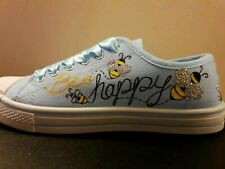 Custom Designed Shoes. Bumblebee design, beehive with paint and crystals