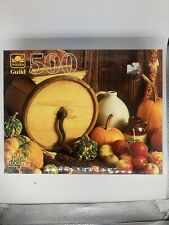 "Golden 500 Piece Jigsaw Puzzle ""Harvest Still Life"""