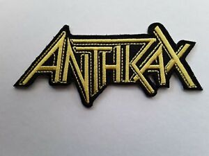 ANTHRAX AMERICAN HEAVY METAL ROCK MUSIC BAND EMBROIDERED QUALITY PATCH UK SELLER