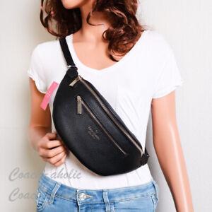 NWT Kate Spade New York Leila Leather Belt Bag Fanny Pack in Black