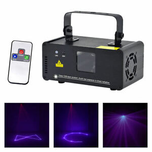 Remote Purple Scan Laser Projecter DMX DJ Dance Party Home Light Stage Effects