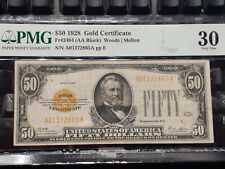 PMG VF 30 $50 Gold Certificate Fifty Dollar Bill Fr.2404 A01372865A CLEAN