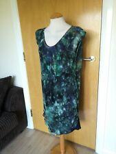 Ladies REISS Dress Size 8 Green Navy Chiffon Overlay Party Evening Wedding Races