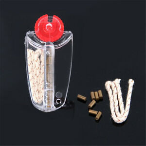 7pcs Flints + 1pc Cotton Core Replacement in Dispenser for Lighter