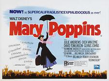 MARY POPPINS MANIFESTO WALT DISNEY ANIMAZIONE JULIE ANDREWS DICK VAN DYKE
